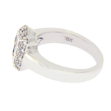 1.00 CT Baguette & Round Diamonds 18K White Gold Engagement Ring »BL119