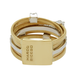 MARCO BICEGO Yellow & White 18 Gold Diamond Bridal Wedding Band Ring Size5 »ED36