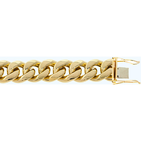 "Fine 10K Yellow Gold 22 mm Miami Cuban Chain Necklace Size 16""-40"""