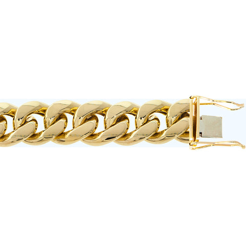 "Fine 10K Yellow Gold 24 mm Miami Cuban Chain Necklace Size 16""-40"""
