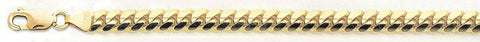 "Solid 10K Yellow Gold Hollow Miami Cuban 11 mm Bracelet Size 7"", 8"", 9"""