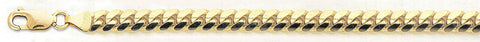 "Solid 10K- Yellow Gold Miami Cuban Chain 11.5 mm Bracelet Size 8"", 9"""