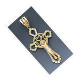Fine 14K Yellow Gold Diamond Cut Crucifix Pendant Different Designs