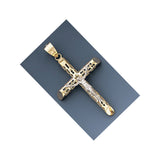 Fine 14k Gold Hollow Two-tone Crucifix Pendant