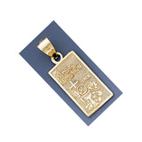 Fine 14K Yellow Gold High Polished My First Communion Pendant 4860