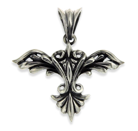 Brand New!! Unisex Solid Sterling Silver Bali Power WING Pendant»P28