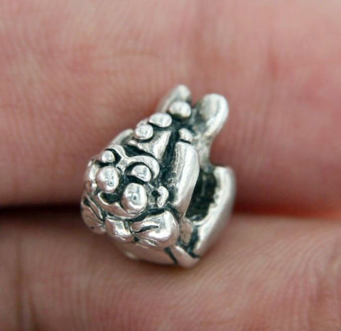 ¦Authentic European 925 Sterling Silver Jester Bead » U412