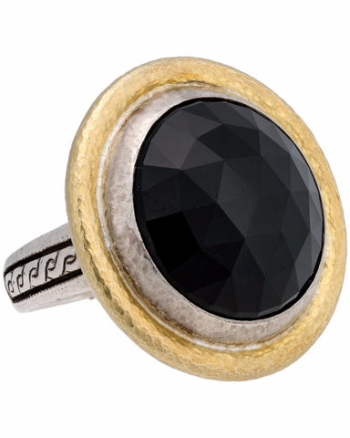 ¦Authentic GURHAN Silver Yellow Gold Galapagos Onyx Dome Ring Size 7 »$ 2,560