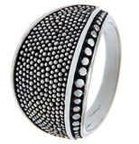 925 Sterling Silver Pebble Ring Size 7.5 » R18