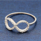 ▌Women's 925 Sterling Silver CZ INFINITY LOVE Ring Size 4,5,6,7,8,9,10 » R72