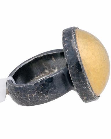 ▌Authentic GURHAN Silver Yellow Gold Amulet Ring Size 6.25,6.5,6.75,7 »$ 750