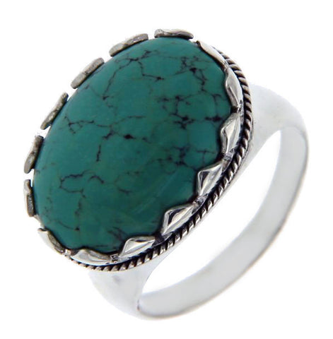 Solid Sterling Silver Turquoise Ring»R27