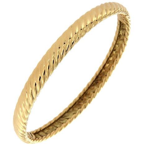 "Authentic David Yurman 18K Yellow Gold 6.5 mm Cable Bracelet Size 7"" »BO3"