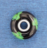 ¦AUTHENTIC TROLLBEADS Green Flower Glass Bead » U316
