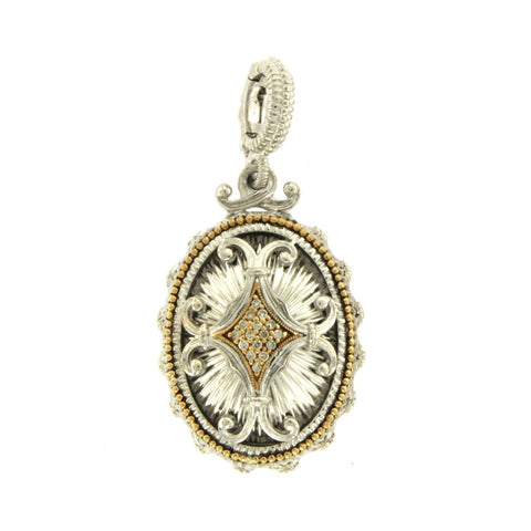 GABRIEL & CO. 18K Yellow Gold 925 Sterling Silver With Diamonds Pendant »U14