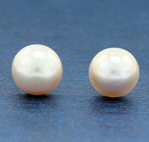 ¦14K Solid Gold Lilac Freshwater 9 mm Pearl Stud Earring »GU19
