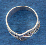 ▌Women's Beautiful 925 Sterling Silver Bali Swirl Band Ring Size 6,7,8,9,10»112