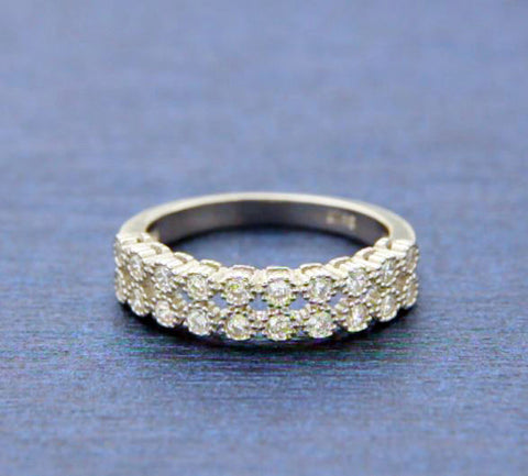▌Women's 925 Sterling Silver White CZ Eternity Band Ring Size5,6,7,8,9,10»R13/5
