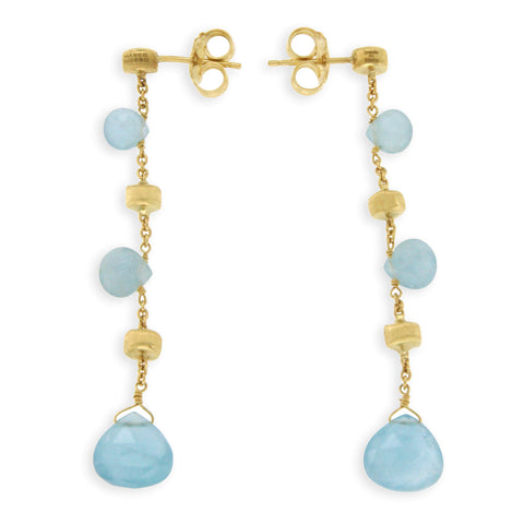 MARCO BICEGO 18K Yellow Gold Aquamarine Paradise Earrings »U211 $1320