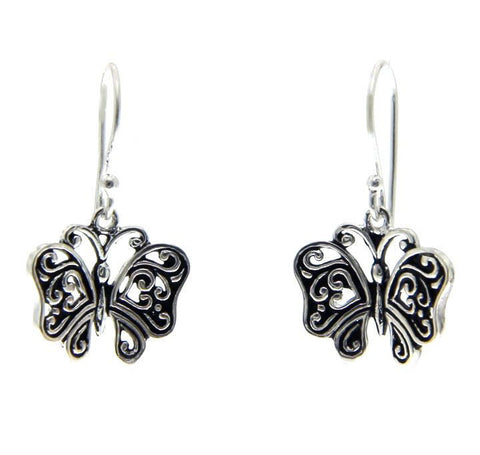 925 Sterling Silver Butterfly Dangle Earring» E224