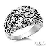 ▌925 Sterling Silver Cluster Flower Filigree Band Ring Size 5,6,7,8,9,10,11 »108