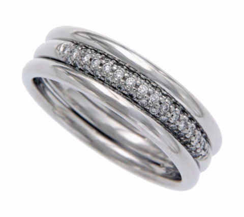 Men's/Women's Auth Scott Kay Platinum Pave Diamond  Band Ring Size 8.25 »U48