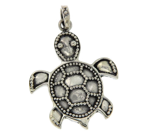 Solid Sterling Silver Cute TURTLE Pendant BRAND NEW»P322