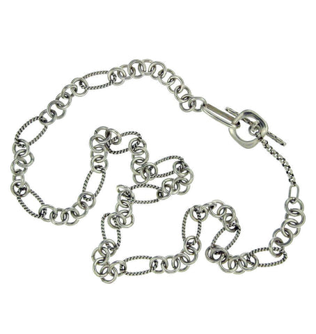 ¦Women's 925 Sterling Silver Bali Link 9MM Chain Necklace » CH13