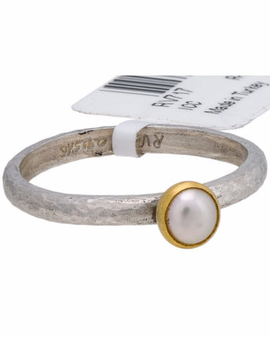 ¦Authentic GURHAN 925 Silver 24K Gold Skittle Preal Ring Size 6.75»$190