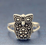 ▌Women's 925 Sterling Silver OWL Ring Size 4,5,63,7,8,9,10,11 »R111