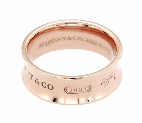 ▌Auth Tiffany & Co  1837 Rubedo Metal Wide 2012 Ring Band Size 6 »U32