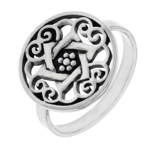 925 Sterling Silver Die-Cut David Star Ring » R110