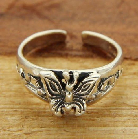 Solid Sterling Adjustable Butterfly Toe Ring » R311