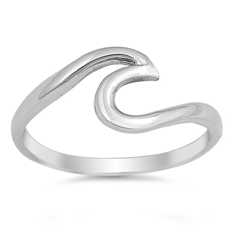 Beautiful 925 Sterling Silver Wave Ring Size 2,3,4,5,6,7.8.9,10,11,12,13,14»R119