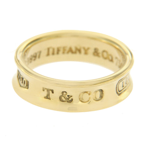 Authentic Tiffany & Co 18K Yellow Gold 1997 Band Ring Size 6 »U416