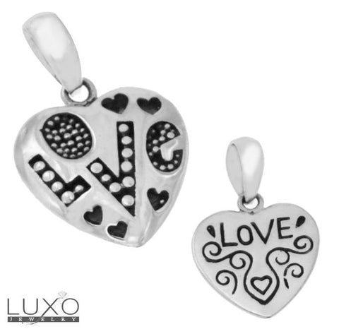 ▌925 Sterling Silver High Quality Handmade Love Hearts Pendant »P318