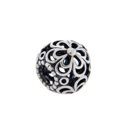 ¦925 Sterling Silver Flower Bead »U424
