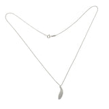 "Auth Tiffany & Co Frank Gehry 18K White Gold Diamond Fish Necklace 18"" »U223"