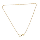 "Tiffany & Co 18K Rose Gold Double Chain Infinity Necklace Size 16"" » U212"
