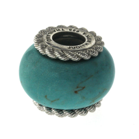 Auth Judith Ripka 925 Sterling Silver Turquoise Pendant Bead »U522-1