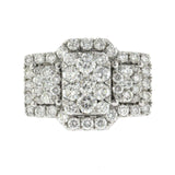 2.86 CT Diamonds in 18K White Gold Engagement Ring