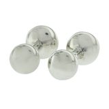 Auth Tiffany & Co. 925 Sterling Silver Barball Cufflinks