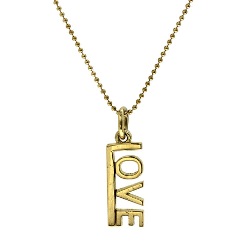 "Tiffany & Co 18K Yellow Gold Love Necklace Size 16"" » U220"