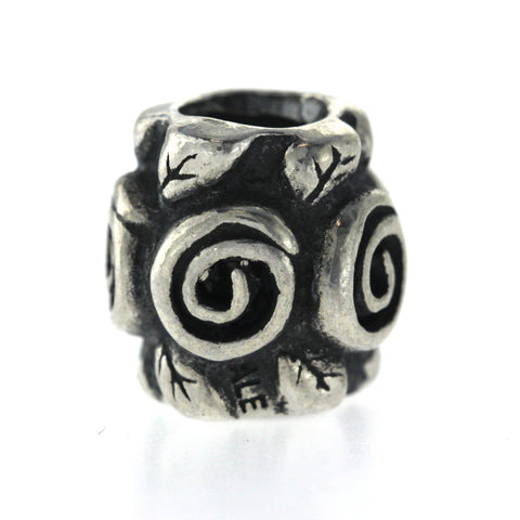 Pandora 925 Sterling Silver Scroll Bead Charm »U55-1