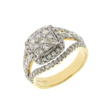 1.38 CT  Natural Diamonds G SI1 in 14K Yellow Gold Engagement Ring