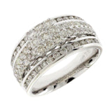 1.44 CT Natural Diamonds G SI1 in 14K White Gold Engagement Ring