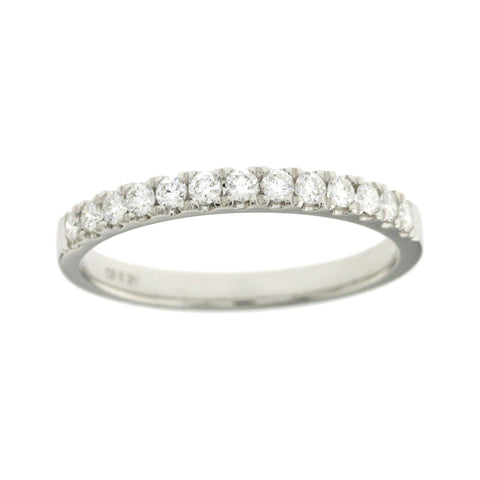 0.28 CT Natural Diamonds G SI1 in 14K White Gold Half Wedding Band Ring