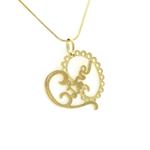 "Auth TOUS 18K Yellow Gold Heart Love Bear Necklace Size 16"" »U112"