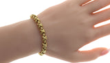 "Auth Tiffany & Co. 18K Yellow Gold Signature X Link Bracelet Size 7.5"" U56"