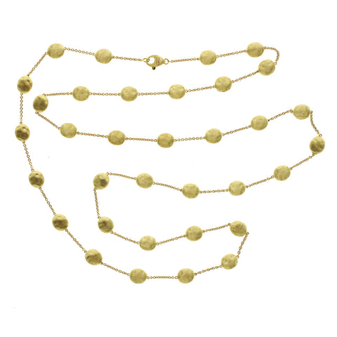 "Marco Bicego Siviglia 18K Yellow Gold Station Necklace Size 36"" »U28 $4480"
